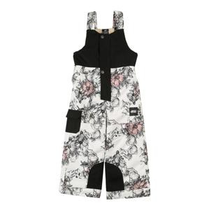 Picture Organic Clothing Outodoor kalhoty 'SNOWY'  bílá / černá / růžová