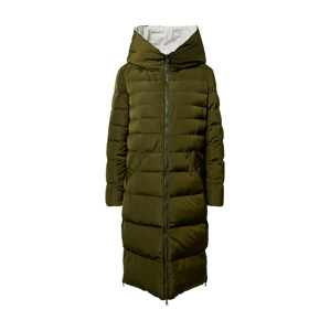 RINO & PELLE Zimní kabát  olivová / bílá