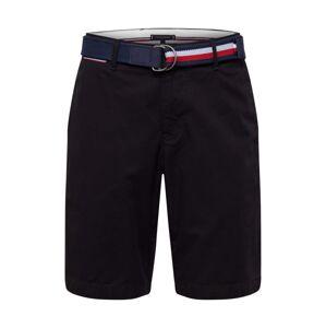 TOMMY HILFIGER Chino kalhoty 'BROOKLYN SHORT LIGHT TWILL BELT'  černá