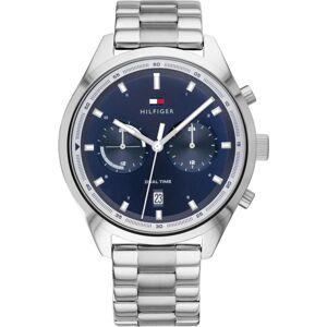 TOMMY HILFIGER Analogové hodinky  tmavě modrá / stříbrná
