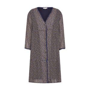 ARTLOVE Paris Šaty  hořčicová / tmavě fialová / bílá