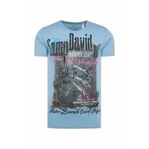 CAMP DAVID Tričko  pink / kouřově modrá / černá