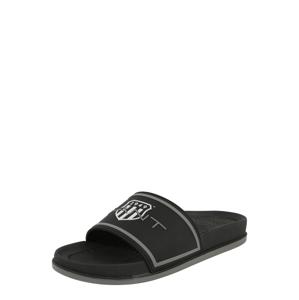 GANT Pantofle 'Beachrock'  černá / bílá / čedičová šedá