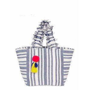 CODELLO Plážová taška 'ICE, ICE BABY ! RESORT'  bílá / námořnická modř