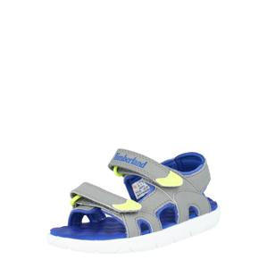TIMBERLAND Otevřená obuv 'Perkins Row 2-Strap'  šedá / svítivě žlutá / modrá