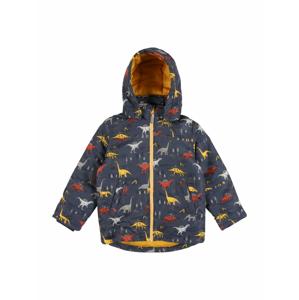 NAME IT Zimní bunda 'Max'  chladná modrá / světle žlutá / světle šedá / tmavě oranžová