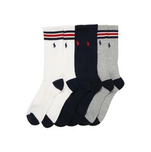 POLO RALPH LAUREN Ponožky  bílá / námořnická modř / šedý melír / červená