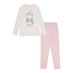 UNITED COLORS OF BENETTON Pyžamo  růžová / béžová