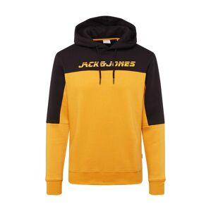 JACK & JONES Mikina 'ASHER'  černá / žlutá