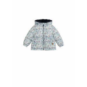MANGO KIDS Zimní bunda  bílá / modrá