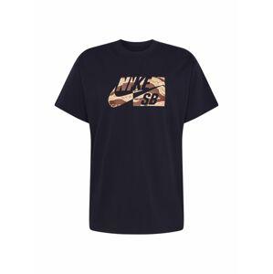 Nike SB Tričko  světle béžová / černá / hnědá