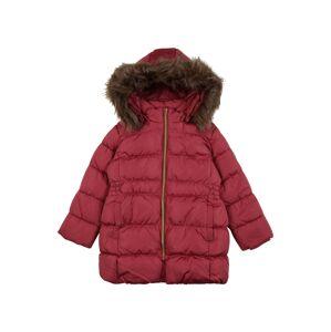 NAME IT Zimní bunda 'Molly'  tmavě hnědá / pastelově červená