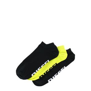DIESEL Ponožky 'GOST'  černá / žlutá / bílá