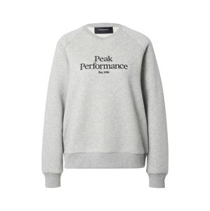 PEAK PERFORMANCE Sportovní mikina  šedá / černá