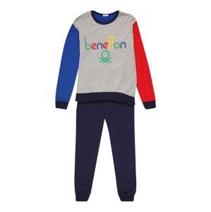 UNITED COLORS OF BENETTON Pyžamo  šedá / královská modrá / noční modrá / melounová / mix barev