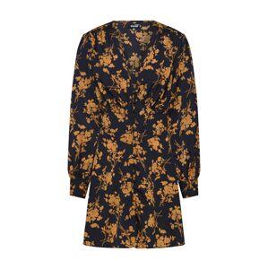 Missguided Košilové šaty  černá / tmavě oranžová