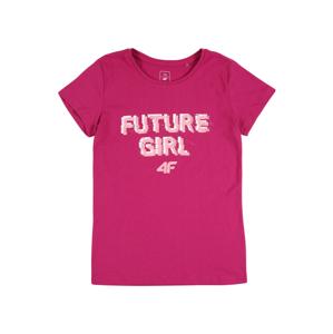 4F Funkční tričko  pink / světle růžová