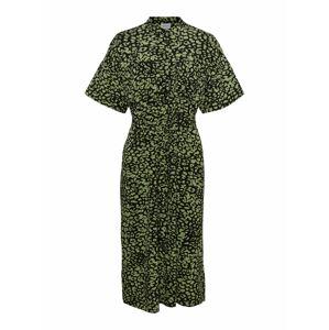 AWARE by Vero Moda Košilové šaty  černá / světle zelená