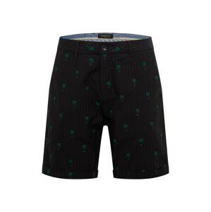 SCOTCH & SODA Chino kalhoty  zelená / tmavě šedá / černá