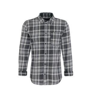 tigha Košile  černá / antracitová / bílá