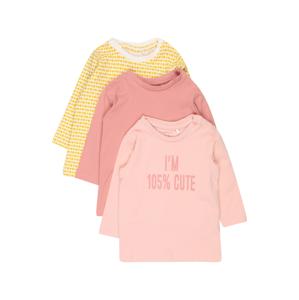 NAME IT Tričko  růžová / pastelově růžová / žlutá / bílá