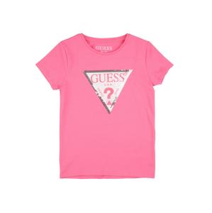GUESS KIDS Tričko  bílá / tmavě fialová / světle růžová