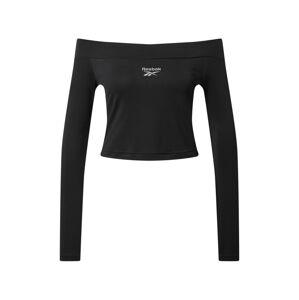 Reebok Classic Tričko  šedý melír / černá