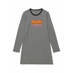 SCHIESSER Noční košilka 'Follow Me'  bílá / černá / jasně oranžová / světle růžová / pink