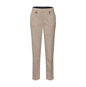 SAINT TROPEZ Kalhoty s puky  hnědá / béžová