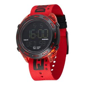 DIESEL Digitální hodinky  červená