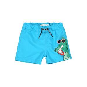 NAME IT Plavecké šortky  aqua modrá / zelená