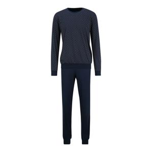 SCHIESSER Pyžamo dlouhé  světle hnědá / bílá / námořnická modř