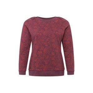Ragwear Plus Mikina 'TASHI'  vínově červená / oranžově červená