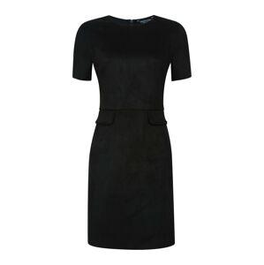 Dorothy Perkins Pouzdrové šaty 'BLK SUEDE PCKT SHIFT'  černá