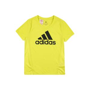 ADIDAS PERFORMANCE Funkční tričko  černá / limone