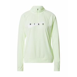 NIKE Sportovní mikina 'Swoosh Run'  světle zelená / černá / bílá