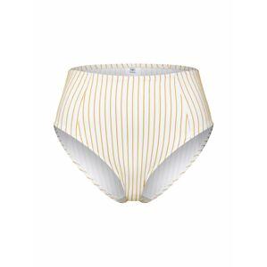 EDITED Spodní díl plavek 'Oriana'  hořčicová / bílá