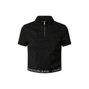 Calvin Klein Jeans Tričko 'MILANO'  černá / stříbrná