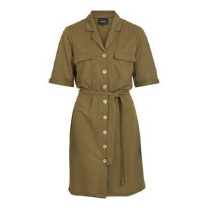 OBJECT Košilové šaty  olivová