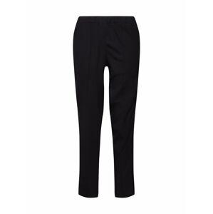 re.draft Kalhoty 'Pants with Velvetdetail'  černá