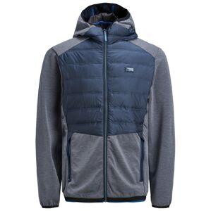 Jack & Jones Junior Zimní bunda  námořnická modř / šedá
