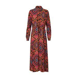ONLY Letní šaty 'ONLBETTY L/S MID CALF SHIRT DRESS WVN'  mix barev / pink