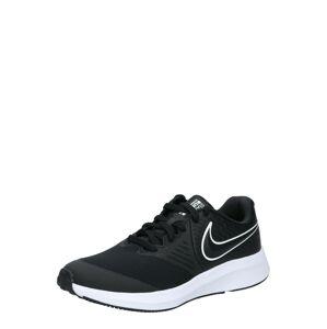 NIKE Sportovní boty 'Star Runner 2'  černá / bílá