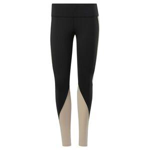 REEBOK Sportovní kalhoty 'OS LUX TIGHT 2.0 CB'  béžová / černá
