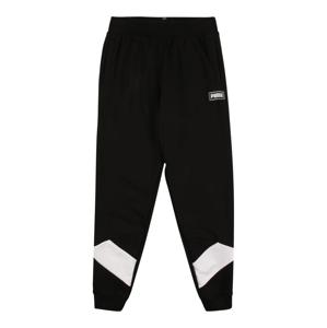 PUMA Kalhoty 'Rebel'  černá / bílá