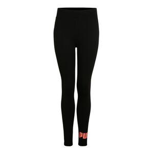PUMA Sportovní kalhoty 'ELEVATED'  černá / oranžová
