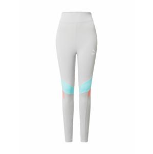 PUMA Sportovní kalhoty  šedá / tyrkysová / korálová
