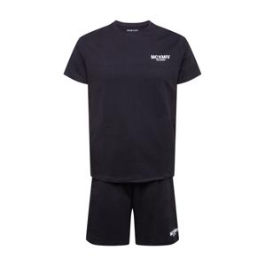 BURTON MENSWEAR LONDON Joggingová souprava  černá / bílá