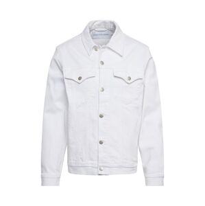 Calvin Klein Jeans Přechodná bunda 'FOUNDATION SLIM DENIM JACKET'  bílá džínovina