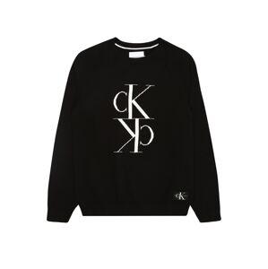 Calvin Klein Jeans Svetr 'MIRROR'  černá / bílá
